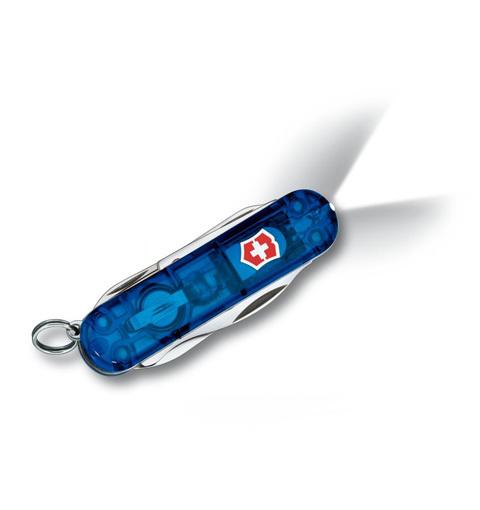 Нож-брелок Victorinox Classic Midnite Manager, 58 мм, 10 функ, синий полупрозрачный  (0.6366.T2)