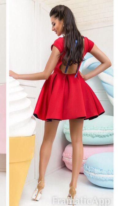 de064e8950d2 Платье с пышной юбкой из неопрена, красное купить в Москве. Интернет ...