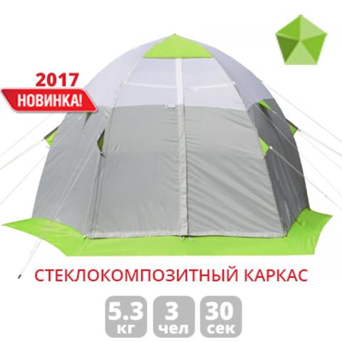 Палатка для зимней рыбалки Лотос 3С (зеленый/оранжевый)