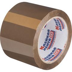 Клейкая лента упаковочная 75мм х 66м 47мкм коричневая Россия