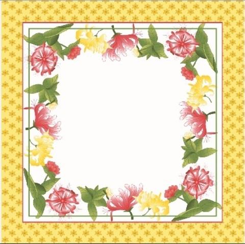 Салфетки 4 шт 40x40 Blonder Home Spring желтые