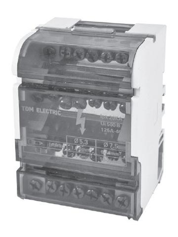 Модульный распределительный блок на DIN-рейку МРБ-100 2П 100А 2х7 групп TDM