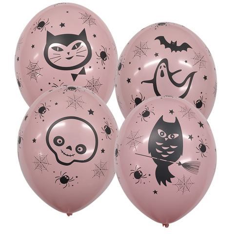 Шары Хеллоуин гламур (розовый)