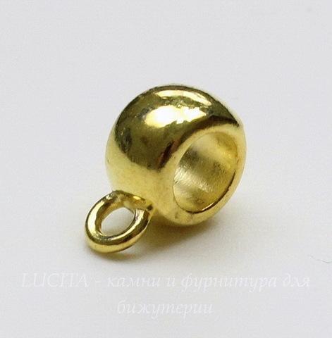 Бейл гладкий 11х5 мм (цвет - золото)