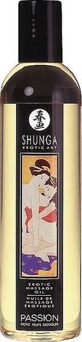 Shunga Passion, 250 мл Массажное масло, яблоко