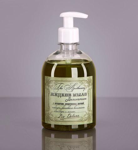 Liv delano The Apothecary Жидкое мыло деликатное с экстрактами лекарственных растений имбиря, конского каштана, алоэ вера и мяты 480г