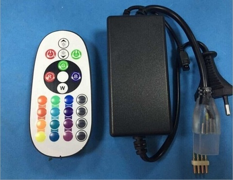 Контроллер для светодиодной ленты RGB, SMD5050/60, 220V, с пультом, до 50 метров