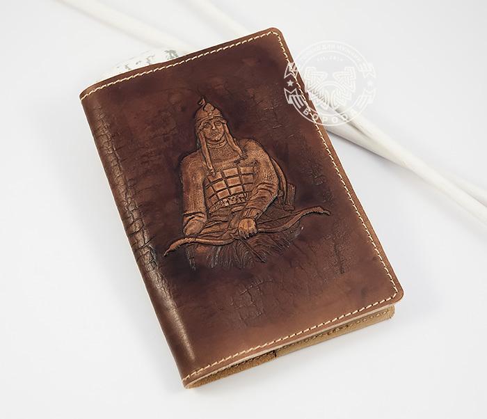 BY14-34-03 Кожаная обложка на паспорт «Алеша Попович» фото 02