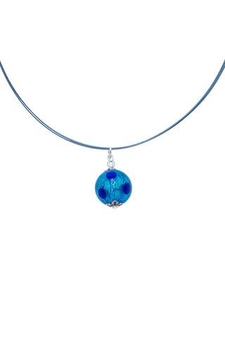 Подвеска Perla Grazia голубая pois (Aqua Pois)