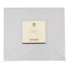 Простыня 140х200х30 Luxberry сатин серый жемчуг