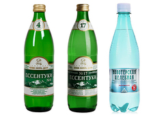 Вода минеральная Ессентуки №4, №17 + Новотёрская, 3*500мл