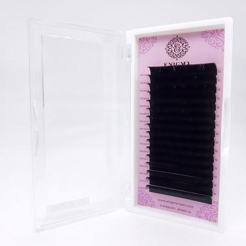 Ресницы черные Enigma, изгиб D (16 линий)