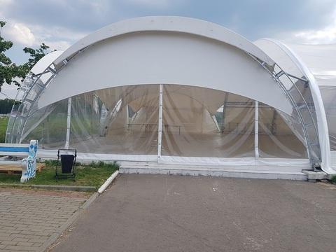 Стенка для шатра раздвижная прозрачная с полумесяцем 10х10