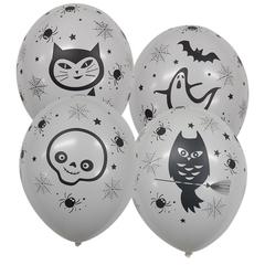 Шары Хеллоуин гламур (белый)