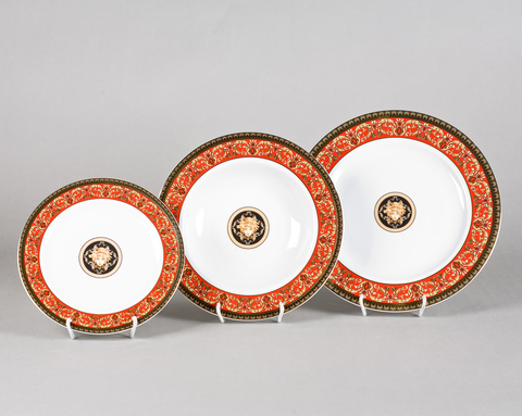 Набор тарелок 18 предметов с тарелками десертными 19 см Сабина Leander