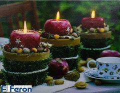 Световая картина «Красные свечи» (Feron)
