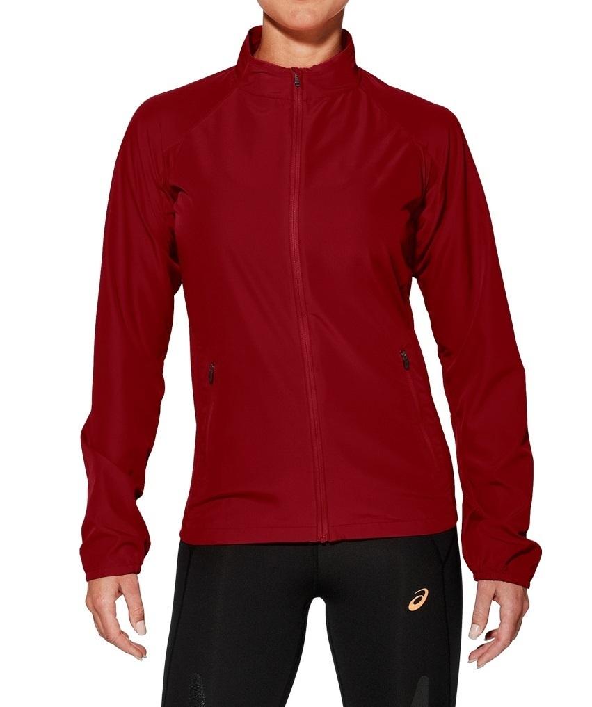 Женски костюм для бега Asics Woven Stripe (110426 6010-121333 0904) красный фото