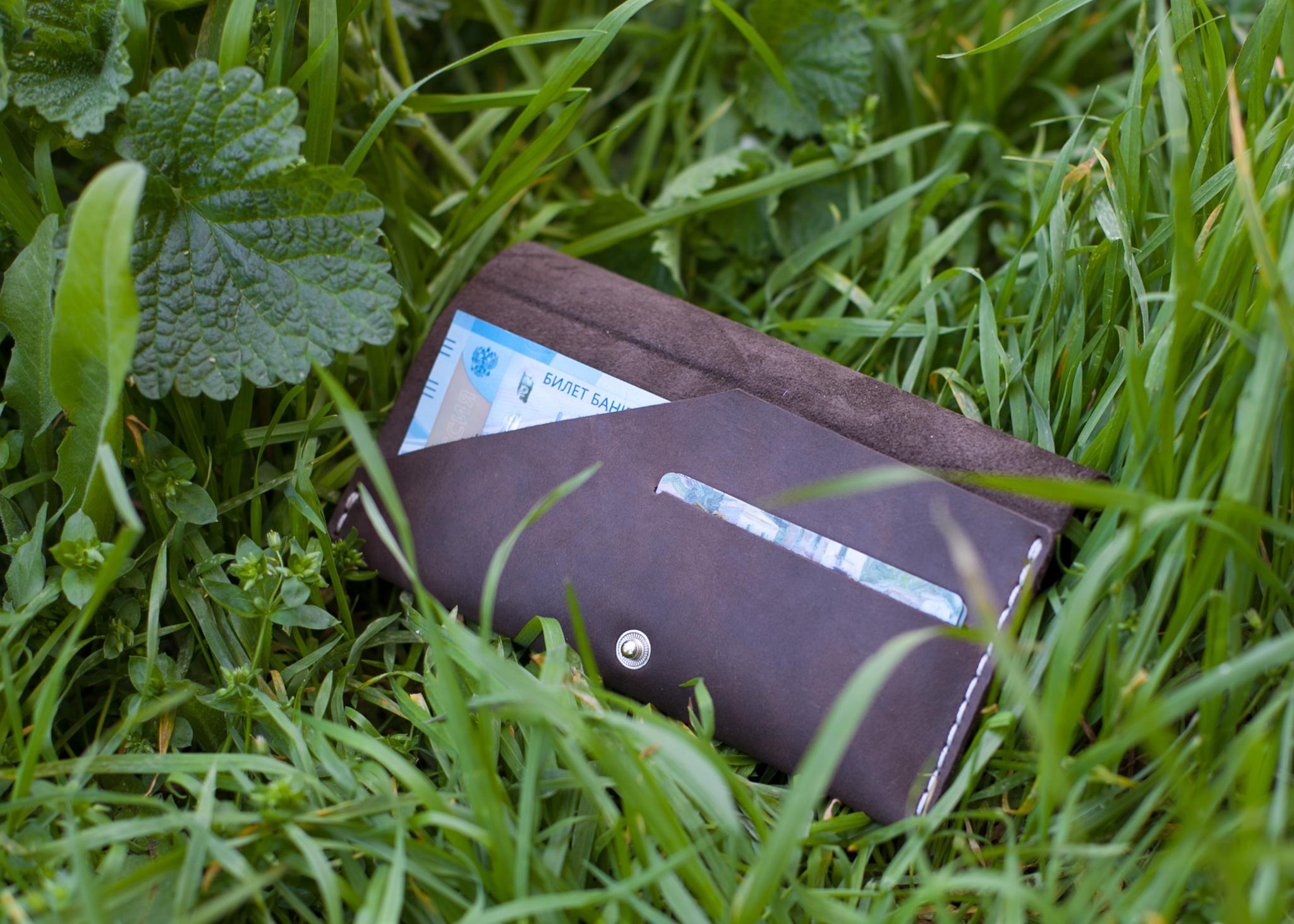 Бумажник ручной работы