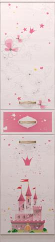 Шкаф – пенал для белья 15 Принцесса-2