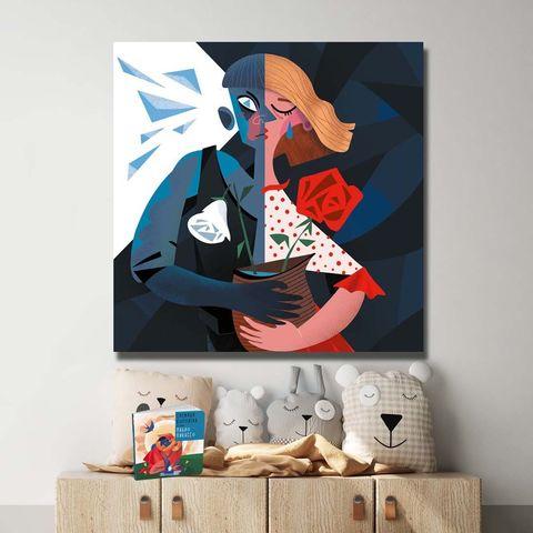 Картина «Кай и Герда» 20х20см, 30х30см или 80х80см