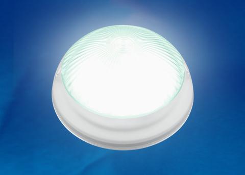 ULW-R05 8W/NW IP64 WHITE Светильник светодиодный влагозащищенный. Круг. 8Вт, 800 Лм, Белый свет (4500K), 220В, Диаметр 21 см. Белый. ТМ Uniel