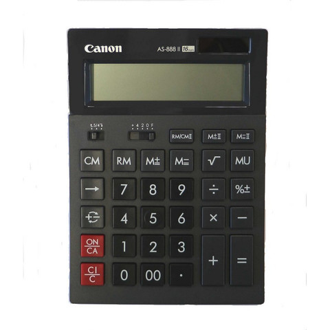 Калькулятор настольный CANON бухг. AS-888 16 разряд. Dual Power
