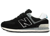Кроссовки Мужские New Balance 574 Premium Suede Black White