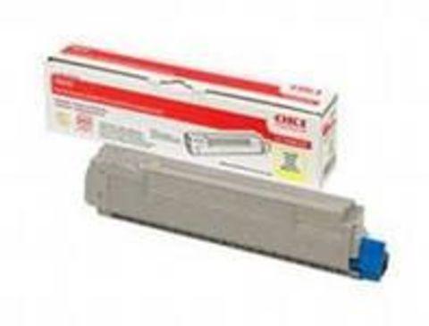 OKI TONER-Y-C910-NEU - Тонер желтый для принтеров C910 и C920WT  Ресурс 15 000 страниц при 5% заполнении (код 44036021)