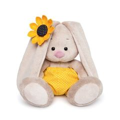 BUNNY MI IN YELLOW TRUSKS IN PEA and WITH SUNFLOWER 20 CM
