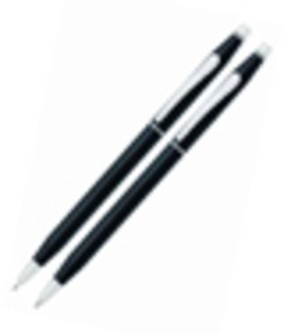 Набор Cross Century Classic: шариковая ручка и механический карандаш 0.7мм. Цвет - черный.