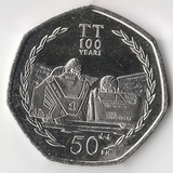 K5177, 2007, Остров Мэн, 50 пенсов Мотогонки UNC
