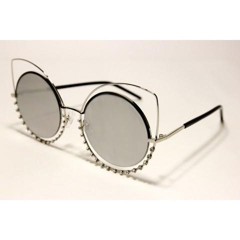 Солнцезащитные очки 648001s Серебряные зеркальные