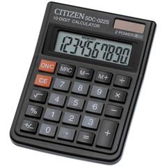 Калькулятор настольный CITIZEN SDC-022S, 10 разряд.