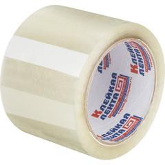 Клейкая лента упаковочная 75мм х 66м 47мкм прозрачная Россия