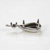 Сеттинг двойной - основа - подвеска Капля для страза 13х8 мм и 3 мм (оксид серебра)