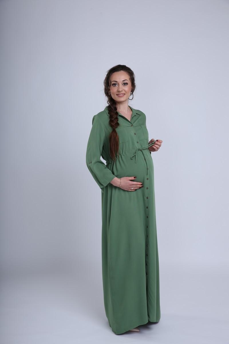 Платье 09450 зеленый