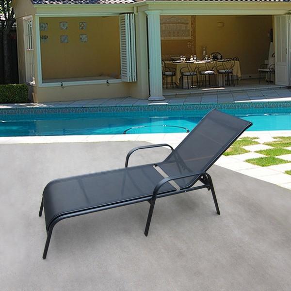 Лежаки и шезлонги Шезлонг-лежак Бирма-1 (Черный) MC-2051A_Black.jpg