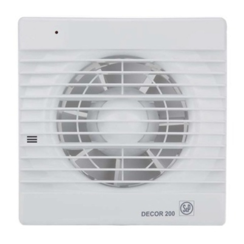 Вентилятор накладной S&P Decor 200 CH (таймер, датчик влажности)