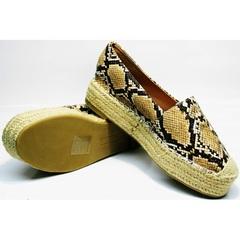 Espadrilles Lily shoes Q38snake.