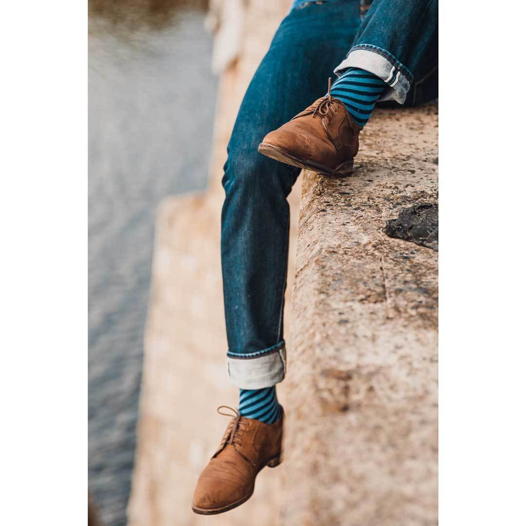 Носки мужские дизайнерские Marrey Infinity Blue Синие