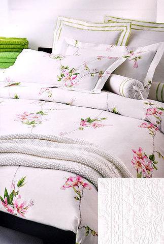 Постельное белье семейное Mirabello Chorisia розовое