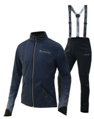 Разминочный лыжный костюм для дтей Nordski Premium синий