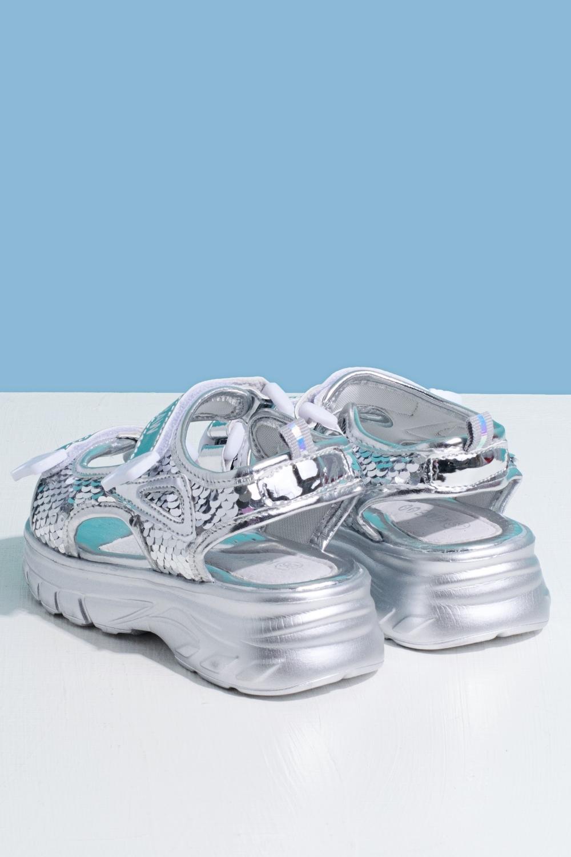 Босоножки серебристые для девочки 205-0044-3