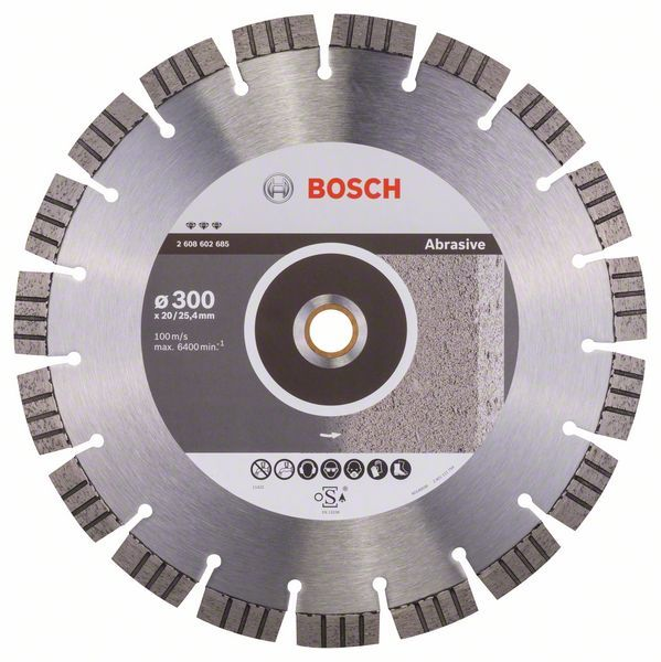 Алмазный диск Best for Abrasive 300-20/25,4 Bosch 2608602685