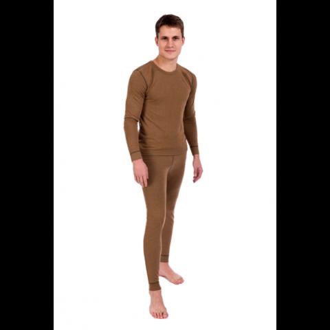 Кальсоны (термобелье) мужские двухслойные из верблюжьей шерсти и волокон Кофе. ТМ