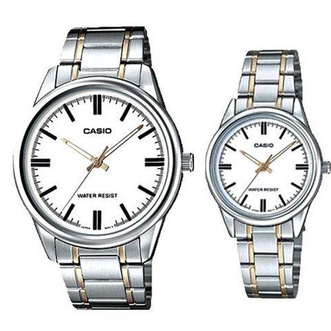 Купить Парные часы Casio Standard: MTP-V005SG-7AUDF и LTP-V005SG-7AUDF по доступной цене