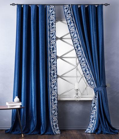 Комплект штор Диама синий
