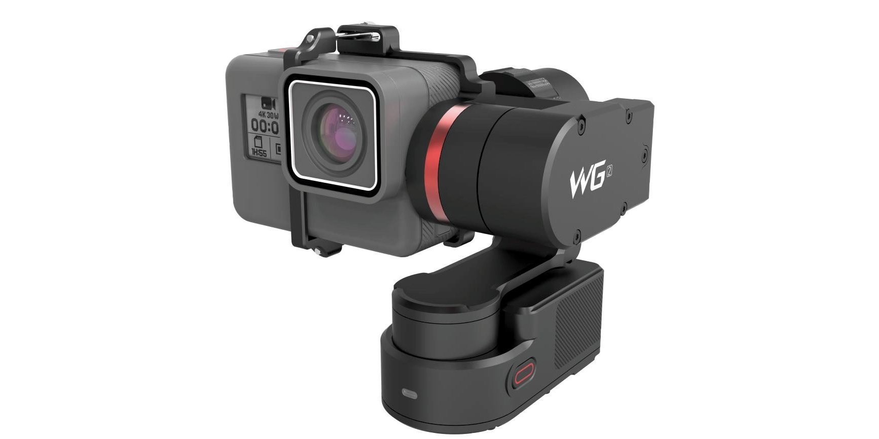 Стабилизатор трехосевой Feiyu FY-WG2 сбоку с камерой
