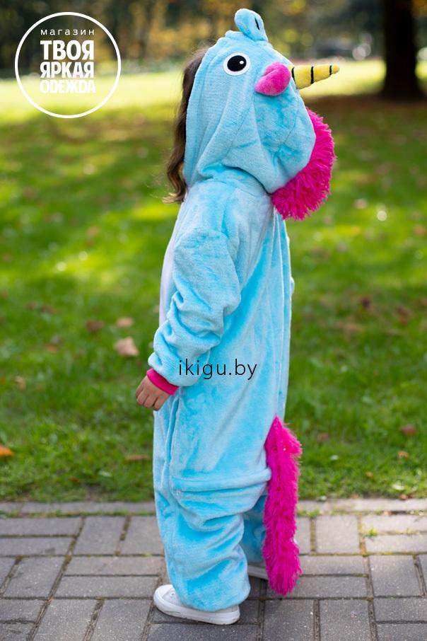 "Детские пижамы кигуруми ""Единорог Бирюзовый"" biruzovy.jpg"