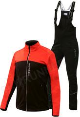 Детский утеплённый лыжный костюм Nordski Active Red-Black 2020